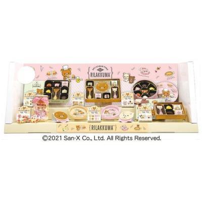 リラックマ サンエックス キャラクター チョコレート バレンタイン 瓶詰め いちごチョコ お菓子ギフト ハート