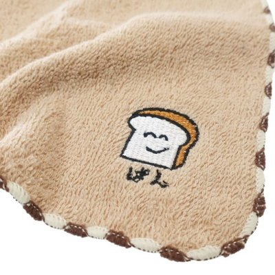 ワンポイント 刺繍 ハンカチタオル おもしろ雑貨 ミニタオル おえかきシリーズ ぱんさん グッズ