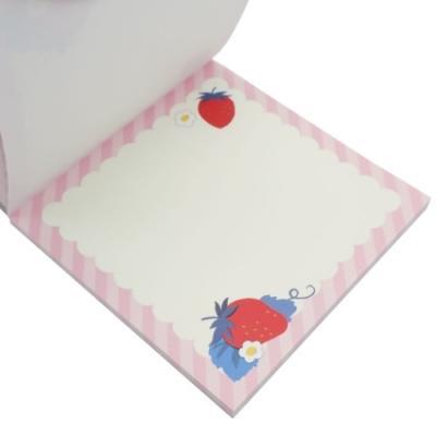 メモ帳 SIROOP ブロックメモ 小さなイチゴ かわいい グッズ