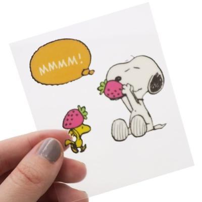 ステッカー ストロベリー ピーナッツ かわいい スヌーピー キャラクター グッズ S&Cコーポレーション デコシール