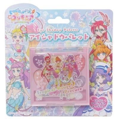 トロピカルージュプリキュア グッズ キッズコスメ アニメキャラクター アイシャドウ パレット ピンク
