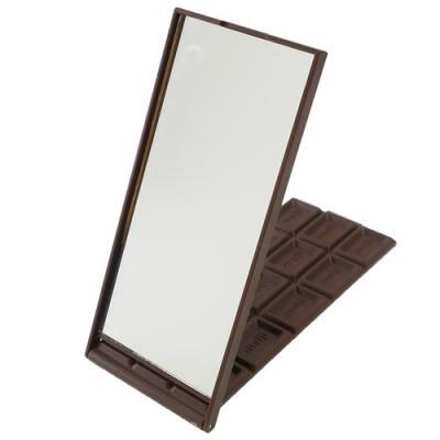手鏡 おやつマーケット グッズ 明治ミルクチョコレート 板チョコ型 スタンドミラー サカモト 14.5×6.5×8mm