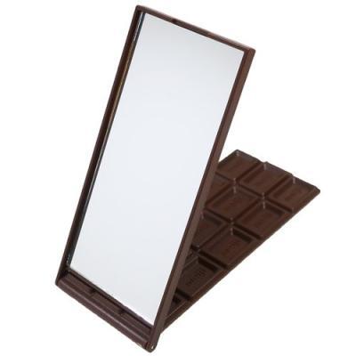 手鏡 明治ブラックチョコレート キャラクター グッズ 板チョコ型 スタンドミラー おやつマーケット サカモト