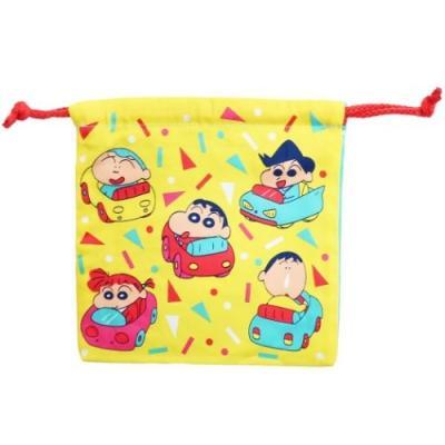 クレヨンしんちゃん 巾着袋 アニメキャラクター グッズ きんちゃくポーチ くるまと楽器
