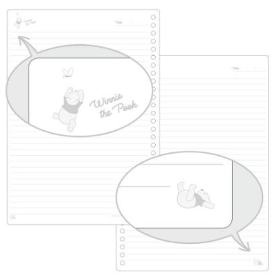 くまのプーさん グッズ ルーズリーフ 26穴 キャラクター B5学習ノート ディズニー
