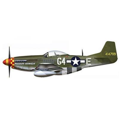 P-51D マスタング ミズーリ アルマダ (1/48スケール HA7728)の商品画像