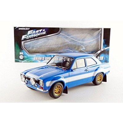Ford Escort RS2000 Mk1 1974 Blue w/White Stripes Fast & Furious 6 (2013) (1/18スケール 19038)の商品画像