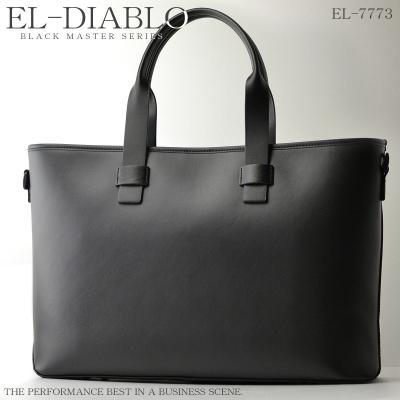 EL-DIABLO ビジネストートバッグ 大容量 黒 ブラックマスター