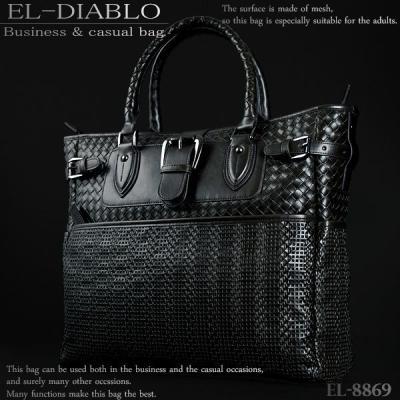 ビジネスバッグ メンズ EL-DIABLO メッシュ 大容量 2WAYバッグ