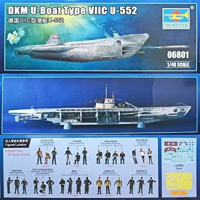 ドイツ海軍 UボートVIIC型 `U-552` (1/48スケール 06801)の商品画像