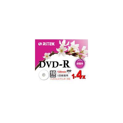 録画用DVD-R 4倍速 10枚 V-R4X10PWの商品画像