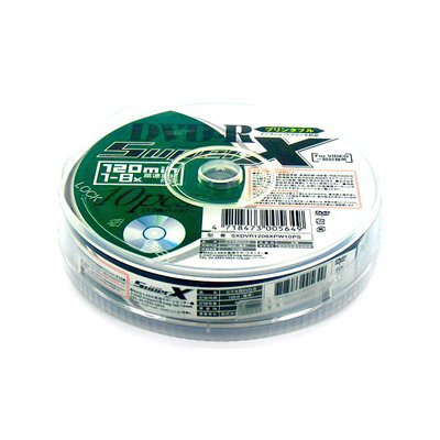 録画用DVD-R 8倍速 10枚 SX DVR120 8X PW10の商品画像
