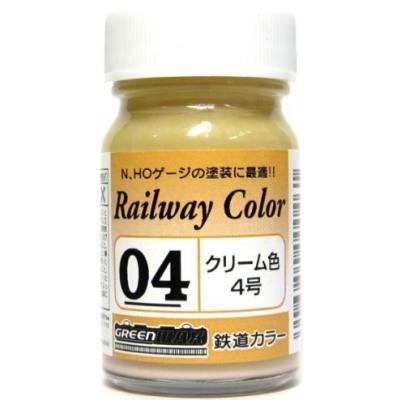GREENMAX 鉄道カラー(ビン入り) クリーム色4号 C-04の商品画像