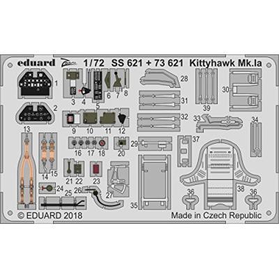 キティホークMk.Ia ズームエッチングパーツ (スペシャルホビー用) (1/72スケール ズーム EDUSS621)の商品画像