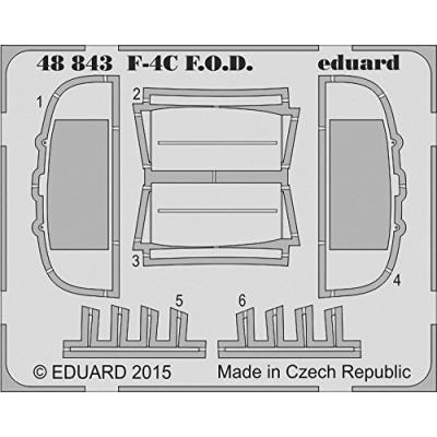 F-4C インテイクカバー エデュアルド用 (1/48スケール エッチングパーツ EDU48843)の商品画像
