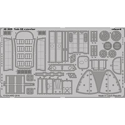 Yak-38フォージャー 外装パーツセット ホビーボス用 (1/48スケール エッチングパーツ EDU48889)の商品画像