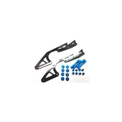 カーボンロングサブシャーシ (タミヤ ワイルドウイリー2用)ブルー SWR-10Bの商品画像