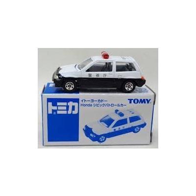 Honda シビック パトロールカー (ホワイト×ブラック) (1/58スケール トミカ イトーヨーカドー限定 )の商品画像