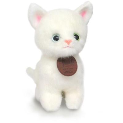 おすわりCAT ぬいぐるみ (白猫) 014788I-6855の商品画像