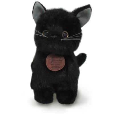 おすわりCAT ぬいぐるみ (黒猫) 014795I-6856の商品画像