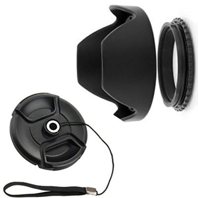 花形レンズフード 77mm ねじ込み式 反転収納OK ねじ込み式 キャップ付 ZPJGREENhanten77CAPの商品画像