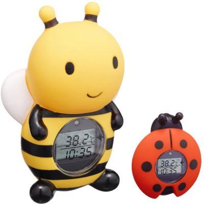 湯温計:パパジーノ時計付きてんとう虫のお風呂用温度計RBTM001