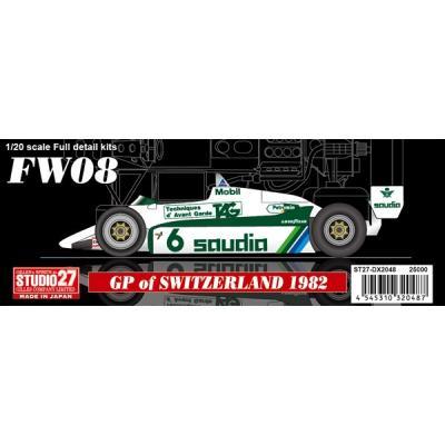 FW08 Swiss Grand Prix 1982 (1/20スケール ガレージキット ST27-DX2048)の商品画像