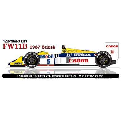 FW11B British GP 1987 CONVERSION KIT (1/20スケール ST27-TK2051)の商品画像
