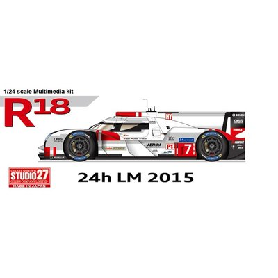 R18 e-tron quattro LM 2015 (1/24スケール ST27-FD24013)の商品画像