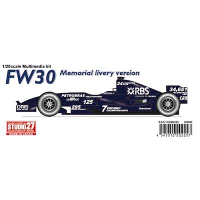 ウィリアムズ FW30 08 (1/20スケール ST27-FK20226C)の商品画像
