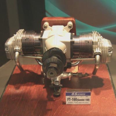 エンジン FT-160 (Gemini-160) 水平対向2気筒 大型スケール機用 36108の商品画像