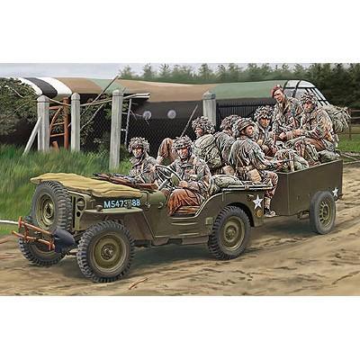 イギリス 1/4ton 空挺用 小型兵員車 &トレーラー +イギリス降下兵 8体 (1/35スケール CB35169)の商品画像
