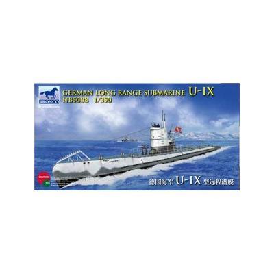 ドイツ Uボート IX(9) A型 潜水艦 遠洋型 (1/350スケール CB5008)の商品画像