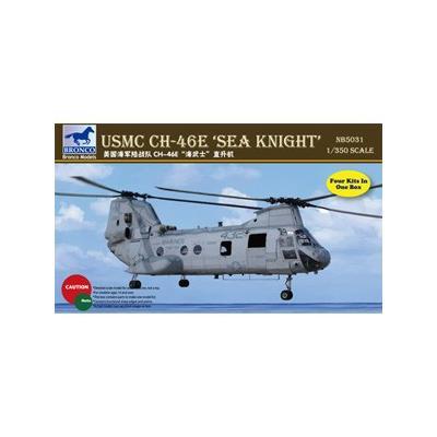 アメリカ 海兵隊 CH-46E シーナイト ヘリコプター 4機入 (1/350スケール CB5031)の商品画像