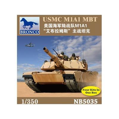 アメリカ海兵隊 M1A1 エイブラムス 主力戦車 4両入り (1/350スケール CB5035)の商品画像