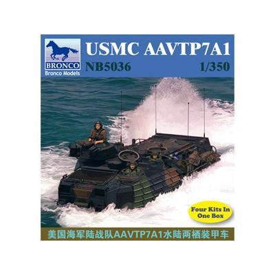 アメリカ 海兵隊 AAVTP7A1 水陸両用 戦闘車両 4両入り (1/350スケール CB5036)の商品画像