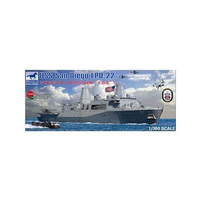 アメリカ ドック型 揚陸艦 LPD-22 サンディエゴ定 (1/350スケール CB5038)の商品画像
