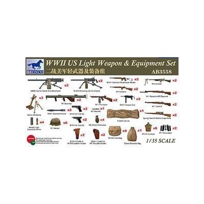アメリカ 歩兵用 小火器セット WWII 総数57点 (1/35スケール CBA3558)の商品画像