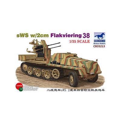 ドイツ sWSハーフトラック 装甲タイプ・2cm四連装 Flak38搭載型 (1/35スケール CB35213)の商品画像