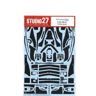 FW16用 カーボンデカール (1/20スケール デカール ST27-CD20003)の商品画像