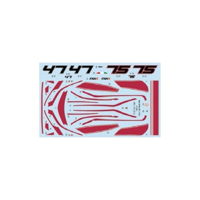 FXX K DressUp decal (Red line) (1/24スケール デカール ST27-DC1160)の商品画像