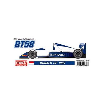 BT58 MONACO GP 1989 (1/20スケール ガレージキット ST27-FK20331)の商品画像