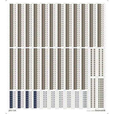 ジオマトリックス・デザイナーズ・インク 651系 行先表示 1989(1997)2017年版 フィルムシール J8213Aの商品画像