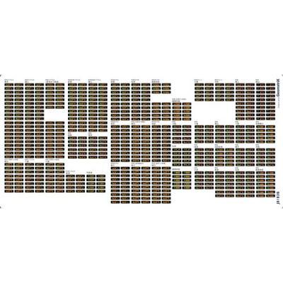 ジオマトリックス・デザイナーズ・インク E257系 さざなみ・あやめ(2枚組)フィルムシール J8183Bの商品画像
