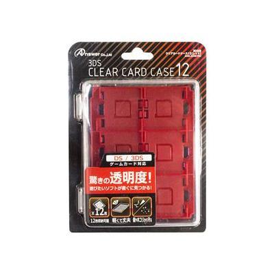 3DS用 クリアカードケース12 レッド ANS-3D087RDの商品画像