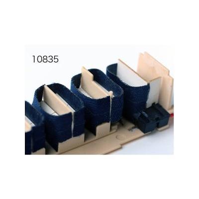 エヌ小屋 HOゲージ 3段式B寝台カーテンパーツ(2両分)TOMIX・10系 国鉄車内用 青色 10835の商品画像