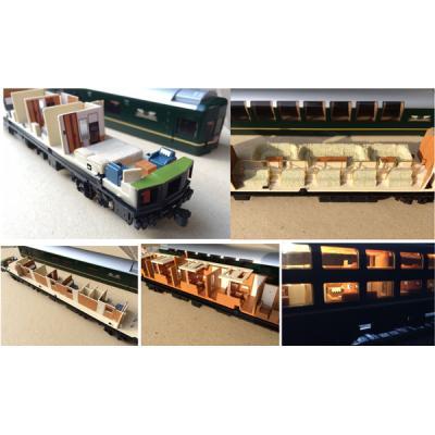 エヌ小屋 トワイライトエクスプレス コンプリートセット(室内・カーテンセット)TOMIX製品用 10850の商品画像