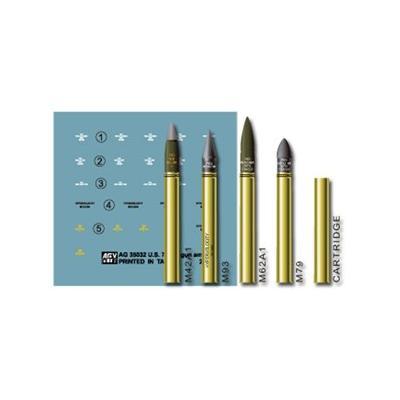 米軍 76mm 真鍮製 砲弾セット (1/35スケール ディテールアップパーツ AG35032)の商品画像