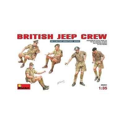 イギリス軍 ジープ クルー フィギュアセット (1/35スケール MA35051)の商品画像