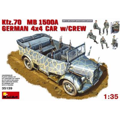 ドイツ軍 Kfz.70 MB1500A 4X4 w/Crew (1/35スケール MA35139)の商品画像